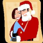 Nikolaus mit Frau (Microsoft Clip Art)