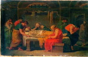 Vincenzo Camuccini: Lamentation over the Corpse of Socrates (Quelle: Wikimedia Commons)