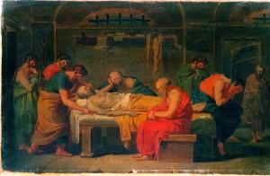 Vincenzo Camuccini: Lamentation over the Corpse of Socrates (Quelle: Wikimedia Commons)