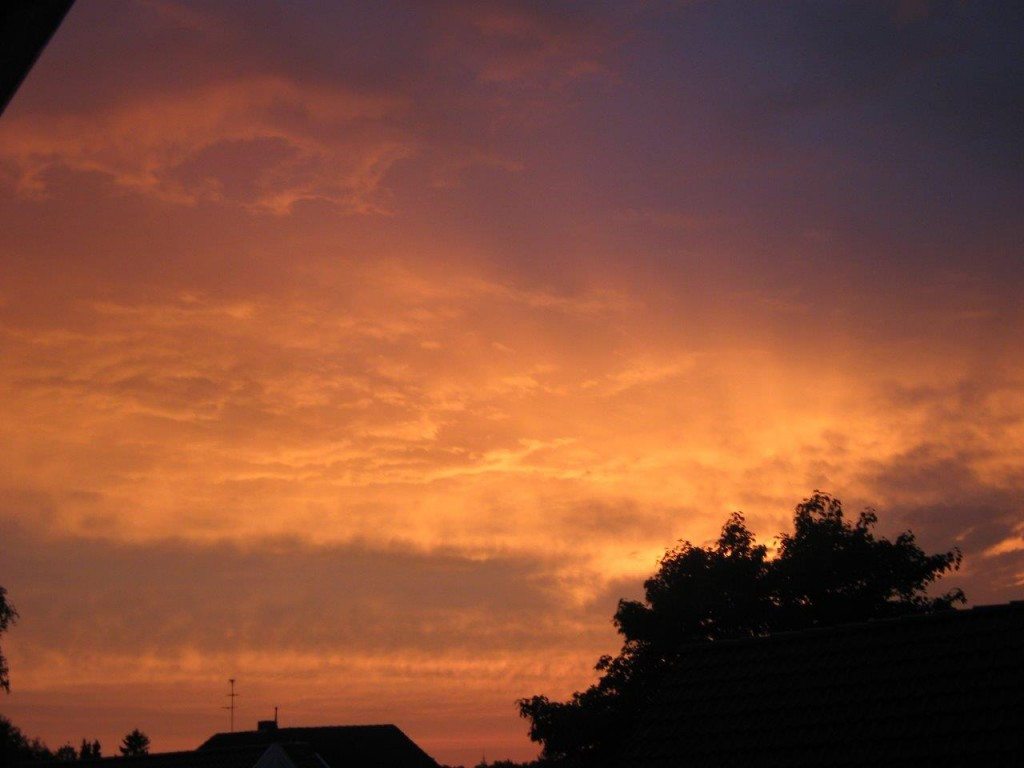 Abendhimmel (Autorin: Cornelia Tiedemann)