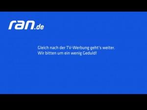 Internet-Pausenbild während der TV-Werbung bei ran.de (Bildschirm-Schnappschuss: eigenes Werk)