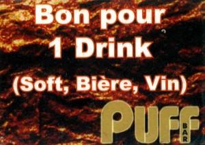 Getränkebon Puff