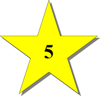 Stern mit Zahl 5
