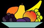 Schale mit Obst