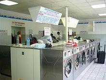 Blick in einen Waschsalon