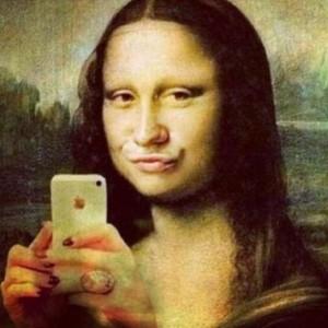 Mona Lisa macht ein Selfie