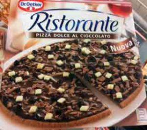 Pizza mit Schokolade