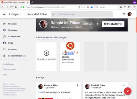 Google+-Profil