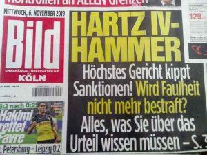 """Bild-Schlagzeile """"Hartz IV-Hammer"""""""